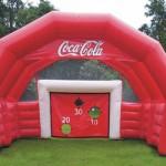 Inflable publicitario Porteria Coca Cola