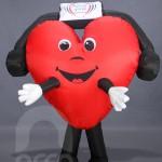 Botarga inflable corazón RADIO 107.9