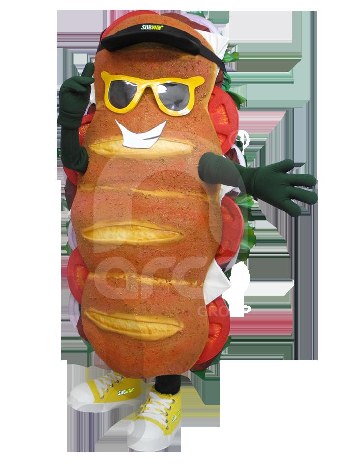 Botargas animadas alimentos subway
