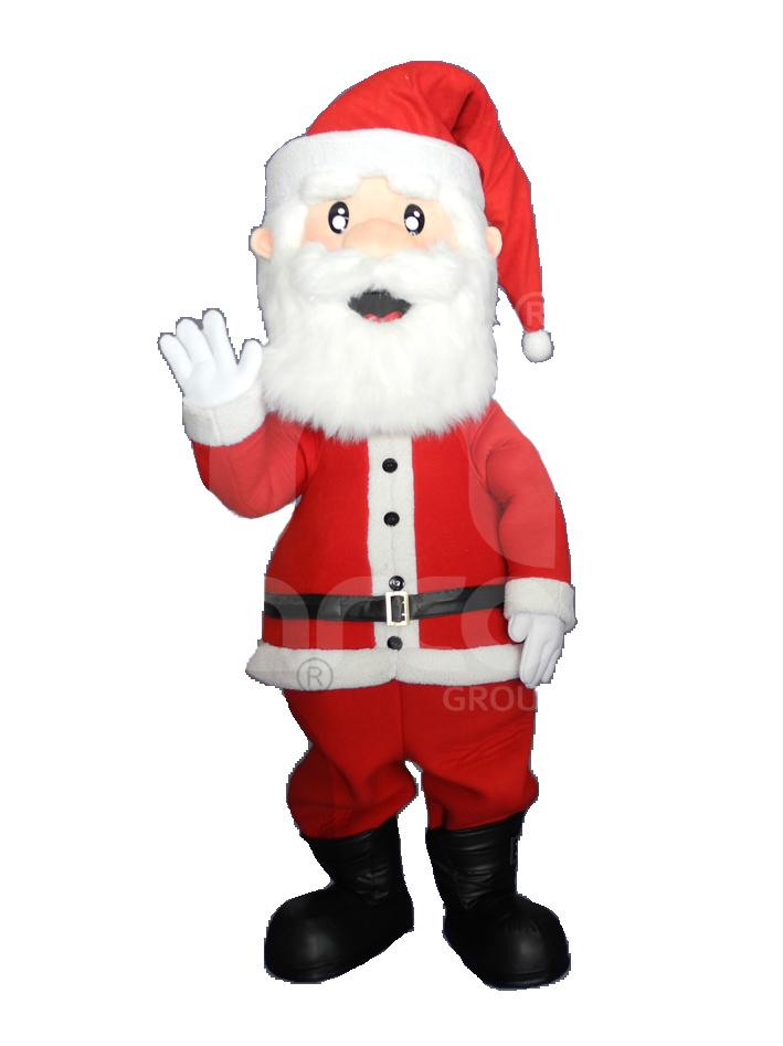Fabricación de botargas de figuras humanas Santa Claus