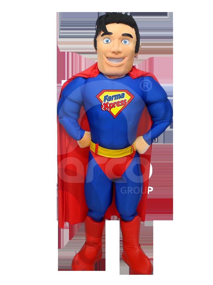 Fabricación de botargas de figuras humanas superheroes
